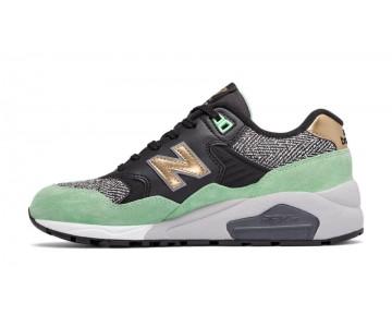 New balance chaussures pour femmes 580 casual noir et d'or et micro chip WRT580-050