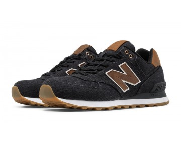 New balance chaussures unisex 574 15 ounce canvas lifestyle noir et marron ML574-042