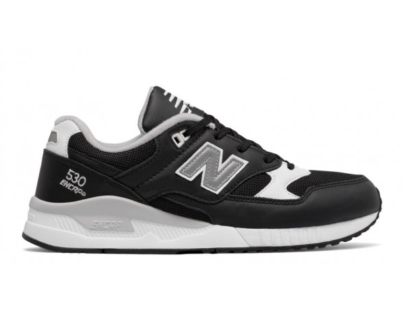 New balance chaussures unisex 530 leather lifestyle noir et blanc et gris M530-147