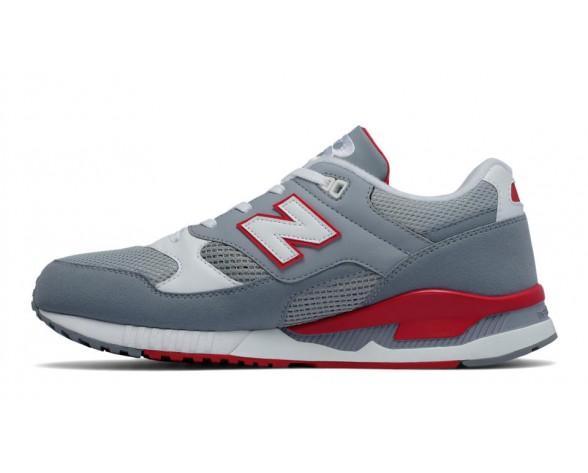 New balance chaussures unisex 530 leather lifestyle gris et rouge et blanc M530-148