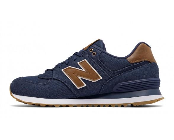 New balance chaussures unisex 574 15 ounce canvas lifestyle marine et marron ML574-150