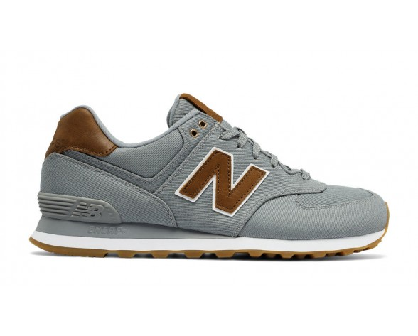 New balance chaussures unisex 574 15 ounce canvas lifestyle gris et marron ML574-151