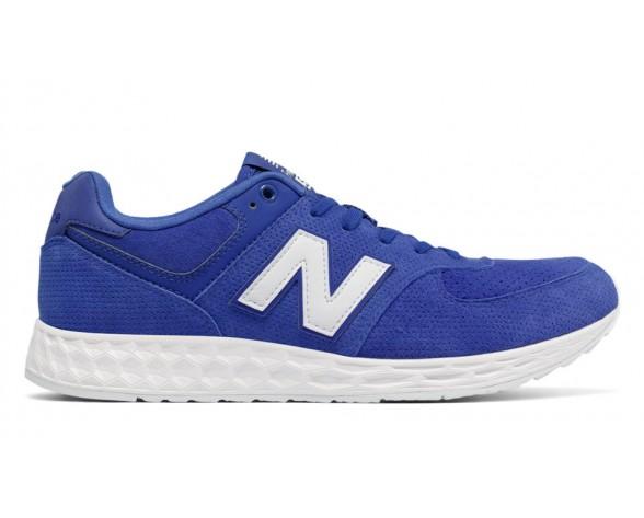 New balance chaussures pour hommes 574 fresh foam casual bleu et blanc MFL574-309
