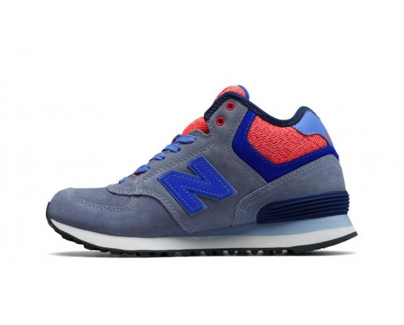 New balance chaussures pour femmes 574 canvas gris et foncé cyan et rose WH574-239