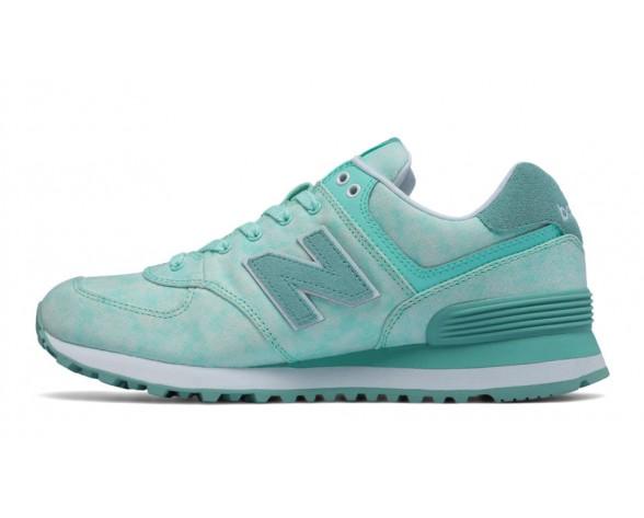 New balance chaussures pour femmes 574 textile lifestyle ozone bleu et tempête bleu et teal WL574-244