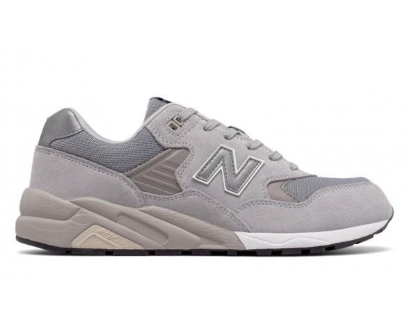 New balance chaussures unisex 580 suede casual argent vison et steel MRT580-172