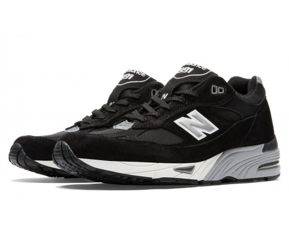 New balance chaussures unisex 991 pigskin casual noir et argent M991-181