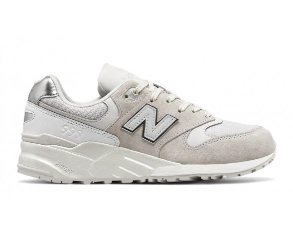 New balance chaussures pour femmes 999 suede lifestyle blanc et metallic argent WL999-273