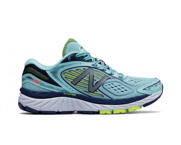 New balance chaussures pour femmes 860v7 course ozone bleu et lime glo W860-333