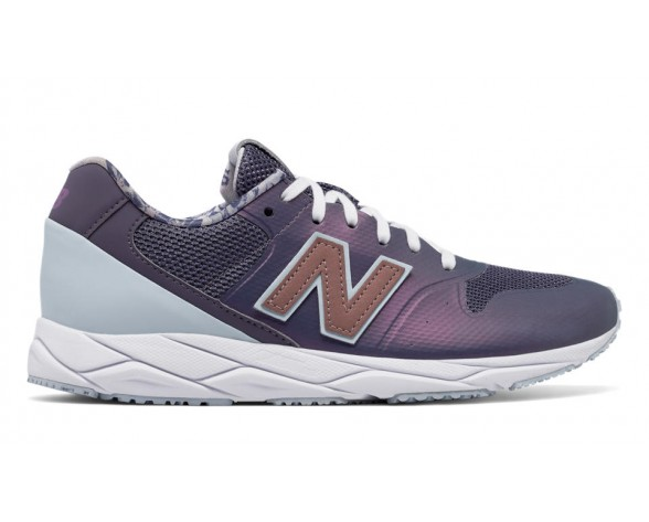 New balance chaussures pour femmes 96 revlite lifestyle foncé cosmic sky et lumière porcelain bleu et rose d'or WRT96-059