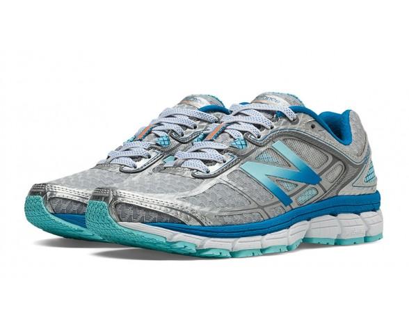 New balance chaussures pour femmes 860v5 course argent et sea spray et wave bleu W860-150