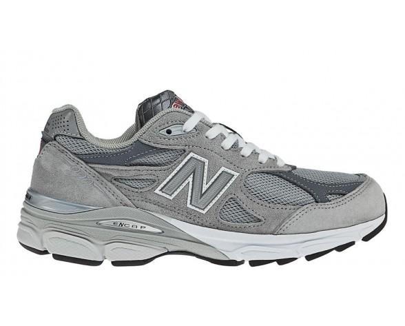 New balance chaussures unisex 990v3 course gris et blanc W990-085