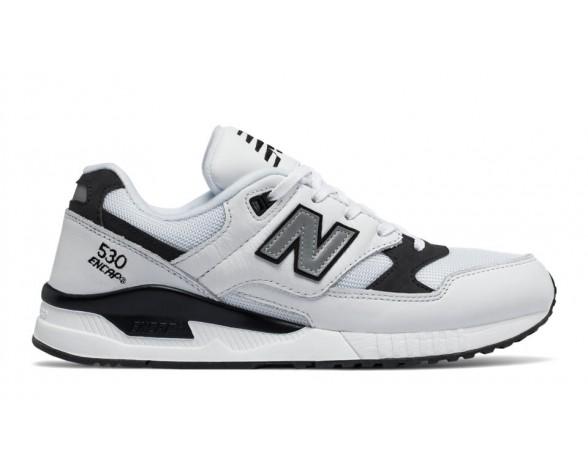 New balance chaussures unisex 530 leather lifestyle blanc et noir M530-039