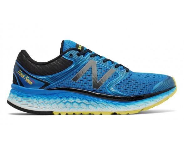 New balance chaussures pour hommes fresh foam 1080v7 running electric bleu et hi-lite M1080-106