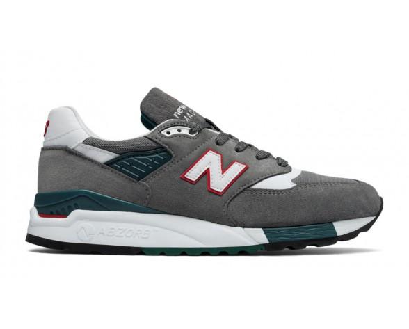 New balance chaussures pour hommes 998 casual gris et rouge M998-092