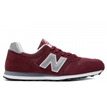 New balance chaussures unisex 373 modern classics casual bourgogne et argent ML373-120
