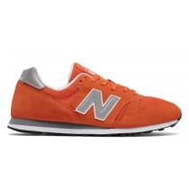 New balance chaussures unisex 373 modern classics casual orange et argent ML373-124