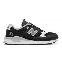 New balance chaussures unisex 530 leather lifestyle noir et blanc et gris M530-147