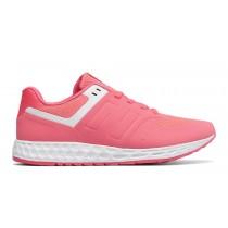 New balance chaussures pour femmes 574 fresh foam casual brillant cerise et blanc WFL574-235