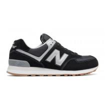 New balance chaussures unisex 574 lifestyle noir et gris et blanc ML574-158