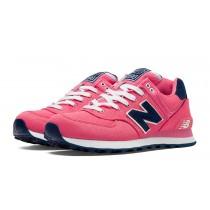 New balance chaussures pour femmes 574 pique polo pack casual bubble gum rose et marine WL574-240