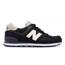 New balance chaussures pour hommes 574 retro lifestyle noir et blanc ML574-317