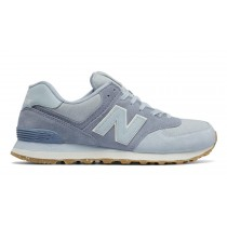 New balance chaussures unisex 574 vintage lifestyle porcelain bleu et reflection ML574-165