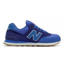 New balance chaussures unisex 574 vintage lifestyle vivid cobalt bleu heather et basin et blanc ML574-166