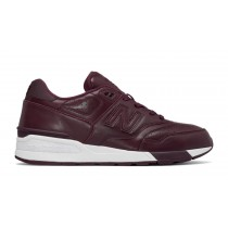 New balance chaussures unisex 597 leather lifestyle bourgogne ML597-173