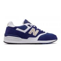 New balance chaussures pour hommes 597 classic marine et blanc ML597-333