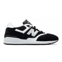New balance chaussures pour hommes 597 classic noir et blanc ML597-334