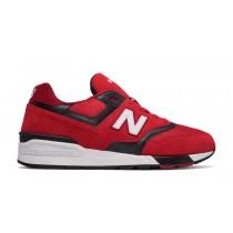 New balance chaussures unisex 597 lifestyle rouge et noir ML597-175