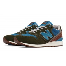 New balance chaussures pour hommes 996 suede casual khaki et bleu MRL996-344