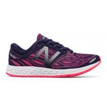 New balance chaussures pour femmes fresh foam zante running foncé denim et alpha rose WZANT-290