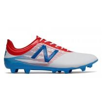 New balance chaussures pour hommes furon dispatch ag football blanc et atomic et barracuda MSFUDA-374