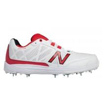 New balance chaussures pour hommes 10v2 minimus cricket blanc et rouge CK10-381