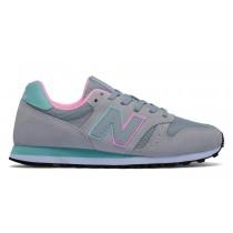 New balance chaussures pour femmes 373 lifestyle gris et teal et rose WL373-303