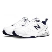 New balance chaussures pour hommes 624v4 blanc et marine MX624-395