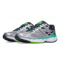 New balance chaussures pour femmes 680v3 running argent et reef et toxic W680-309