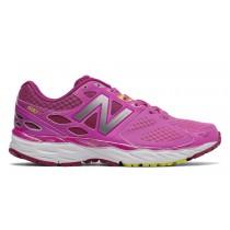 New balance chaussures pour femmes 680v3 running rose et argent W680-310