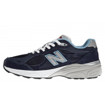New balance chaussures pour hommes 990v3 course marine et blanc et lumière bleu W990-420