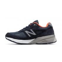 New balance chaussures pour hommes 990v4 running marine et orange W990-424