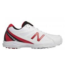 New balance chaussures pour hommes cricket 4020v2 blanc et rouge CK4020-431