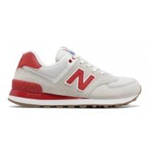 New balance chaussures pour femmes 574 retro lifestyle sea salt et rouge WL574-044