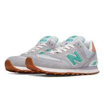 New balance chaussures pour femmes 574 premium cruisin lifestyle lumière gris WL574-043