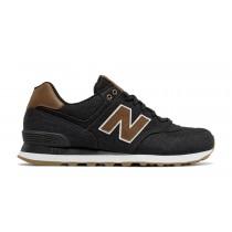 New balance chaussures unisex 574 15 ounce canvas lifestyle noir et marron ML574-042