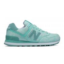 New balance chaussures pour femmes 574 textile lifestyle rose et diva rose et blanc WL574-047