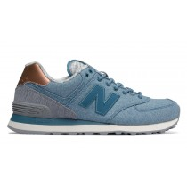 New balance chaussures pour femmes 574 casual jet stream et steel WL574-045