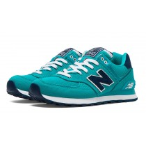 New balance chaussures pour femmes 574 pique polo pack casual teal et marine WL574-042