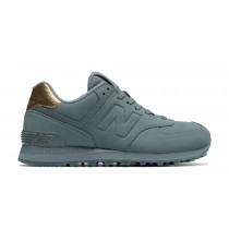 New balance chaussures pour femmes 574 molten metal casual gunmetal WL574-041